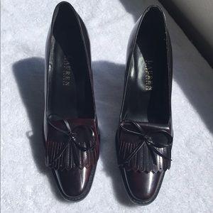 Ralph Lauren Patent Leather 3 inch Heels